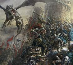 A battle between Lizardmen and humans [Vincent Proce] Dark Fantasy Art, Fantasy Artwork, Fantasy Battle, Fantasy Concept Art, High Fantasy, Fantasy Warrior, Fantasy Rpg, Medieval Fantasy, Fantasy Character Design