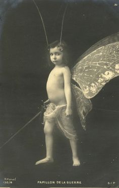 """""""Butterfly of the Night"""", vintage postcard, 1910s"""