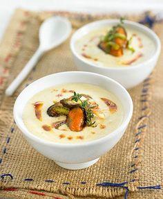 Crema de puerros con escabeche de mejillones | Delicooks | Good Food Good Life
