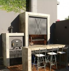 This listing has outdoor kitchen ideas with retractable and also long-term. Asado Grill, Bbq Grill, Outside Living, Outdoor Living, Parrilla Interior, Outdoor Kitchen Bars, Outdoor Kitchens, 233, Summer Kitchen