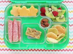 Yumbox packed lunch from Melissa @ http://www.anotherlunch.com/