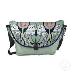 Voysey Art Nouveau Owls Nest Patten Messenger Bag