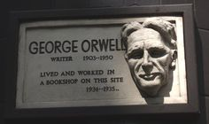 George Orwell - commemorative plaque