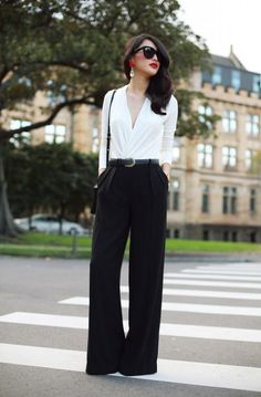 How To Wear Black Pants 2017