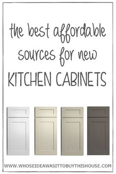 We didn't have a lot of money to spend on our kitchen renovation, so we figured out the best affordable places to buy new kitchen cabinets!