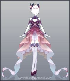 [Open] Design by Lonary. on - Fantasy Fashion - Anime Kimono, Anime Dress, Drawing Anime Clothes, Dress Drawing, Clothing Sketches, Dress Sketches, Fashion Design Drawings, Fashion Sketches, Fantasy Dress