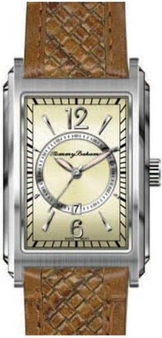 24fdca85d88 Tommy Bahama Mens Bali Retro Stainless Watch - Brown Leather Strap - Cream  Dial Tommy Bahama
