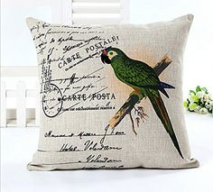 East Melody® Cotton Linen Square Decorative Throw Pillow Cover Cushion Case Pillow Case 18 X 18 Inches / 45 X 45 cm (Green Parrot) East Melody http://www.amazon.com/dp/B00GTHG3F4/ref=cm_sw_r_pi_dp_ND-bvb135TPBQ
