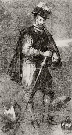 Goya y Lucientes, Francisco de: Retrato del bufón de la corte, llamado Don Juan de Austria, después de Velázquez