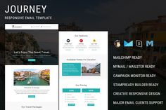 Journey - Responsive Email Template Journey - Responsive email template is suitable for travel, tour, hotel, travel packages, tourism, trip, vacation, holiday, travel agency, travel guide, holiday travels, hotels, resorts categories - Preview: Pennyblack Email Builder Preview: Stampready Builder Preview: - Journey email template is compatible with StampReady, MailChimp , Campaign Monitor, Mymail / Mailster and Pennyblack builder. - Features - Multipurpose... Html Email Templates, Newsletter Templates, Campaign Monitor, Responsive Email, Sales Letter, Email Client, Page Layout, Travel Agency, Holiday Travel