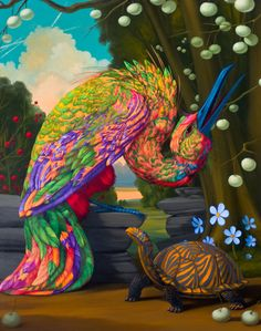 """Laurie Hogin """"Laurie Hogin's allegorical paintings of vicious creatures suggestive of human counterparts skillfully appropriat. Love Birds, Beautiful Birds, Bird Artwork, Funny Birds, Artist Profile, Contemporary Paintings, American Artists, Art Boards, Art Images"""