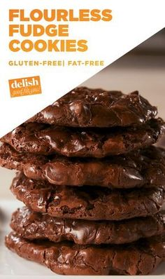 Use Swerve confectioners. Save These Easy Flourless Fudge Cookies For A Hard DayDelish