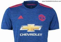 0899d991473 Manchester United unveiled the club's new blue away kit for the season by  adidas. The new shirt has a base colour of collegiate blue, a distinct dark  blue ...
