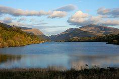Llyn padarn swimming lake snowdonia