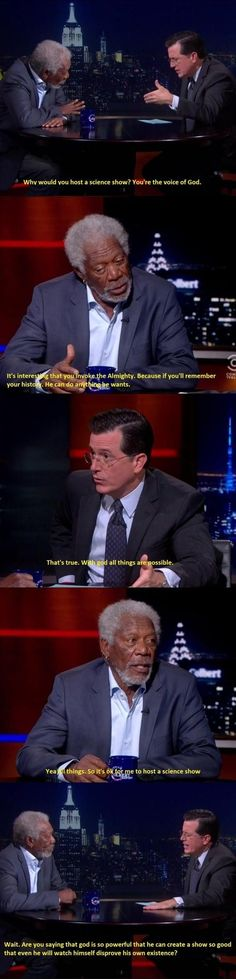 Colbert Interviewing God#funny #lol #lolzonline