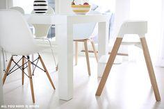 Stunning, smooth, modern lines –Stokke Steps Chair via allyouneediswhite