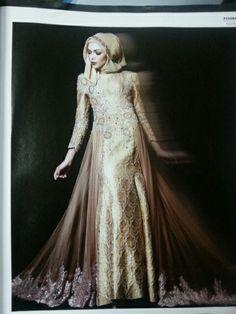 My dream wedding dress...songket modern for muslimah wedding dress...look sweet,elegant n gorgeous