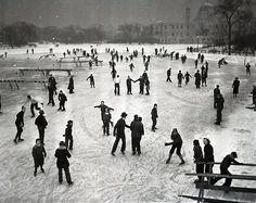 Ice skatingin Garfield Park, 1941. (Chicago Pin of the Day, 12/21/2013)