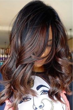 Honey blond to the rescue! If your platinum blond style is frying your hair, go Brunette Color, Balayage Brunette, Balayage Hair Dark Black, Black Ombre, Blonde Brunette, Highlights For Black Hair, Dark Brown Hair With Highlights And Lowlights, Dark Brown Hair With Caramel Highlights, Fall Highlights
