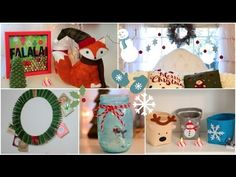 DIY Holiday room Decorations + Easy ways to decorate/organize! this girl is so creative and i love every single one of her videos! she has some great ideas in here