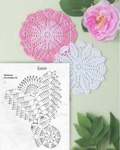 Doily Patterns, Sewing Patterns, Crochet Patterns, Crochet Mandala, Crochet Doilies, Crochet Home, Diy Crochet, Diy And Crafts, Arts And Crafts