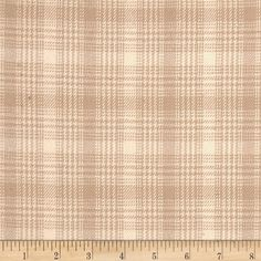 Primo Plaids V Flannel Plaid Light Tan from @fabricdotcom  From Marcus Brothers, this double-napped, yarn dyed flannel is perfect for quilting, apparel and home decor accents.  Colors include beige and cream.