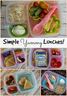 Simple Yummy School Lunch Ideas | packed in @EasyLunchboxes containers