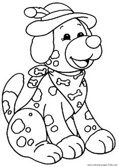 Dog Dogs Puppy Animal Coloring Pages Color Plate Sheet Printable
