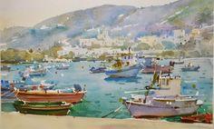 Geoffrey Wynne Acuarelas - Watercolours: Grecia - Greece