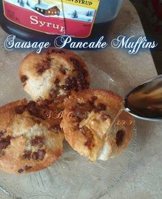 Saturday Morning Breakfast maybe? So yummy! Directions for the NuWave Oven included too! Sausage Pancake Muffins 2 c. quick pancake mix (just add. Pancake Muffins, Pancakes, Morning Breakfast, Yummy Treats, Sausage, French Toast, Oven, Brunch, Snacks
