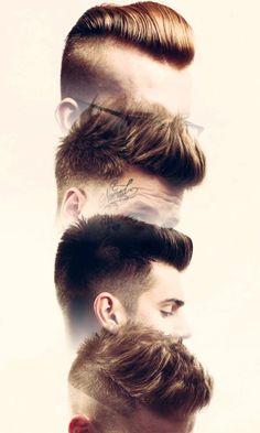 Stylish Shaved Short Haircuts for Men. Hairstyles. Черный. Černá. Black. Fashion black in the street. Cut hair. Men.Women.