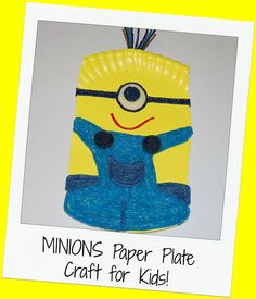 MINIONS Paper Plate Craft for Kids