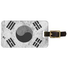 #korea korea 한국 national flag 한글 Taegeukgi vintage Luggage Tag - diy cyo customize personalize design