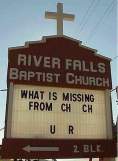 25 Church Signs That Are Too Clever For Their Own Good