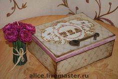 `Время пить чай` коробка для чаепития. Королевская чайная коробка. Возможно изготовление в комплект подноса, подставок для чашек и чайника, часов и прочих предметов интерьера.  Коробочки для хранения чая. Весьма необычно и очень удобно!