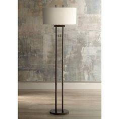 621 best floor lamps images on pinterest floor lamps floor roscoe bronze twin pole floor lamp aloadofball Gallery