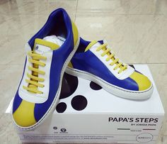 Finally i have received my pair of PAPA'S STEPS ..  Purchaise this limited edition  at www.aliveshoes.com/papassteps   #sneakers #shoedesigner #footwear #fashonista 100% italian leather