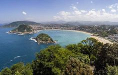 Die Playa de la Concha in San Sebastián (Spanien) ist nach Meinung der Tripadvisor-User der schönste Strand Europas