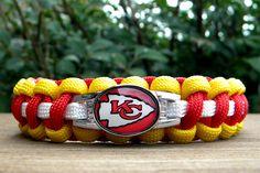Custom Handmade Kansas City Chiefs Bracelet. I need this!!!!