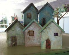 Paper mache houses. Helena Marette