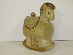 Rocking Horse Cookie Jar made in USA by Treasure Craft