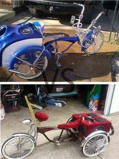 Lowrider bike Lowrider Bicycle, Trike Bicycle, Cruiser Bicycle, Motorcycle Bike, Recumbent Bicycle, Cool Bicycles, Cool Bikes, Bicycle Workout, Push Bikes