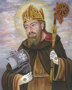 St Brendan of Clonfert the Navigator Priest Abbot 16