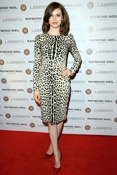 Model and daughter to Annie Lenox, Tali Lennox, wears a long sleeve Dolce & Gabbana sheath dress to Pre-Brit Awards dinner at The Chocolate Factory on January 26, 2012 in London, England.