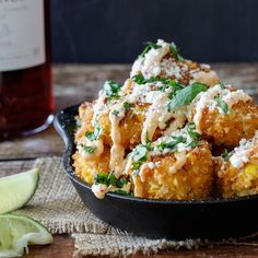 A fun and creative tapas recipe for Mexican Street Corn Croquettes. All the flavor of Elotes (Mexican Street Corn) in bite-size form! Mexican Tapas, Mexican Appetizers, Appetizers For Party, Spanish Tapas, Spanish Food, Mexican Entrees, Mexican Dishes, Tapas Recipes, Mexican Food Recipes