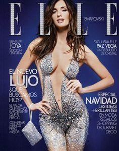 Spanish actress Paz Vega covered in Swarovski Crystals. sure helps to have a gorgeous body! Irina Shayk, Vegas, Elle Spain, Fashion Magazine Cover, Magazine Covers, Spanish Actress, She's A Lady, Thing 1, Gorgeous Body