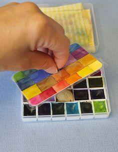 #diy watercolor palette