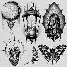 Clock Tattoo Design, Tattoo Design Drawings, Tattoo Sketches, Art Sketches, Dark Art Tattoo, 4 Tattoo, Gothic Tattoo, Skull Rose Tattoos, Schrift Tattoos