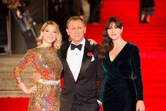 Léa Seydoux, Daniel Craig, and Mónica Belluci turn heads at the #SPECTRE red carpet premiere.