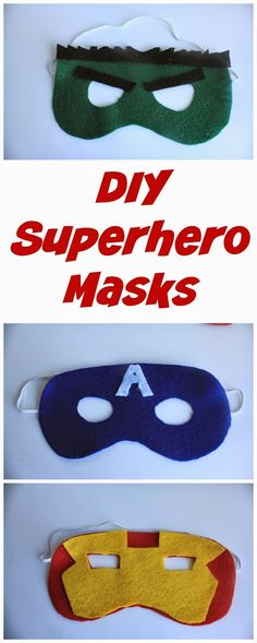 Second Chances Girl: DIY Avengers Masks
